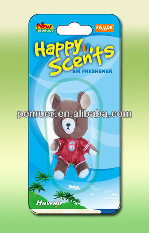Custom stuffed plush toy/doll air freshener for car/ room freshener