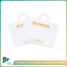 JUNDA Cangnan Manufacturer Supply Disposable Bottle Neck Plastic Hang Tag Without String