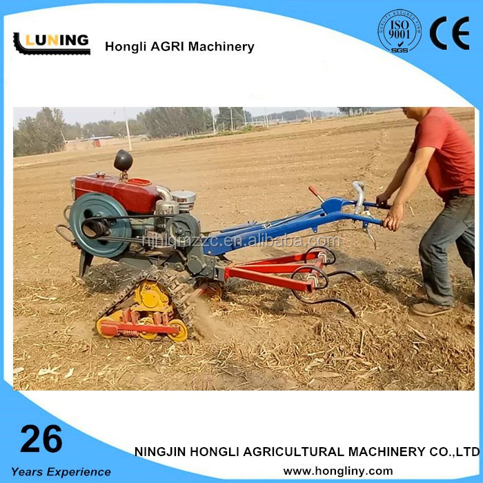 New arrival 20hp farm walking tractor with crawler chassis