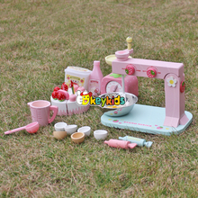 2017 wholesale kids making wooden toy cake set children diy wooden toy cake set new design wooden toy cake set W10D013