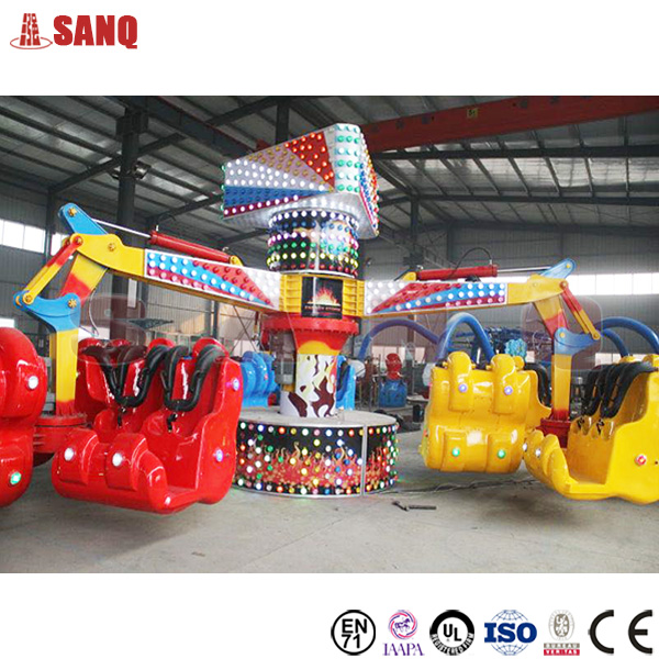 Attractive playground 24 person kids family loved energy claw rides energy storm rides for sale