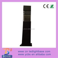 5141BM Black wooden square pillar light up LED lamp stand for 3D crystal display