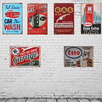 China Customized Design Collectible Vintage Tin Signs Plaque Metal Retro