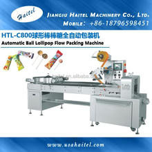 HTL-C800 Automatic Ball Lollipop Flow Packing Machinery Pillow Wrapping Machine With Candy Sorting Plate
