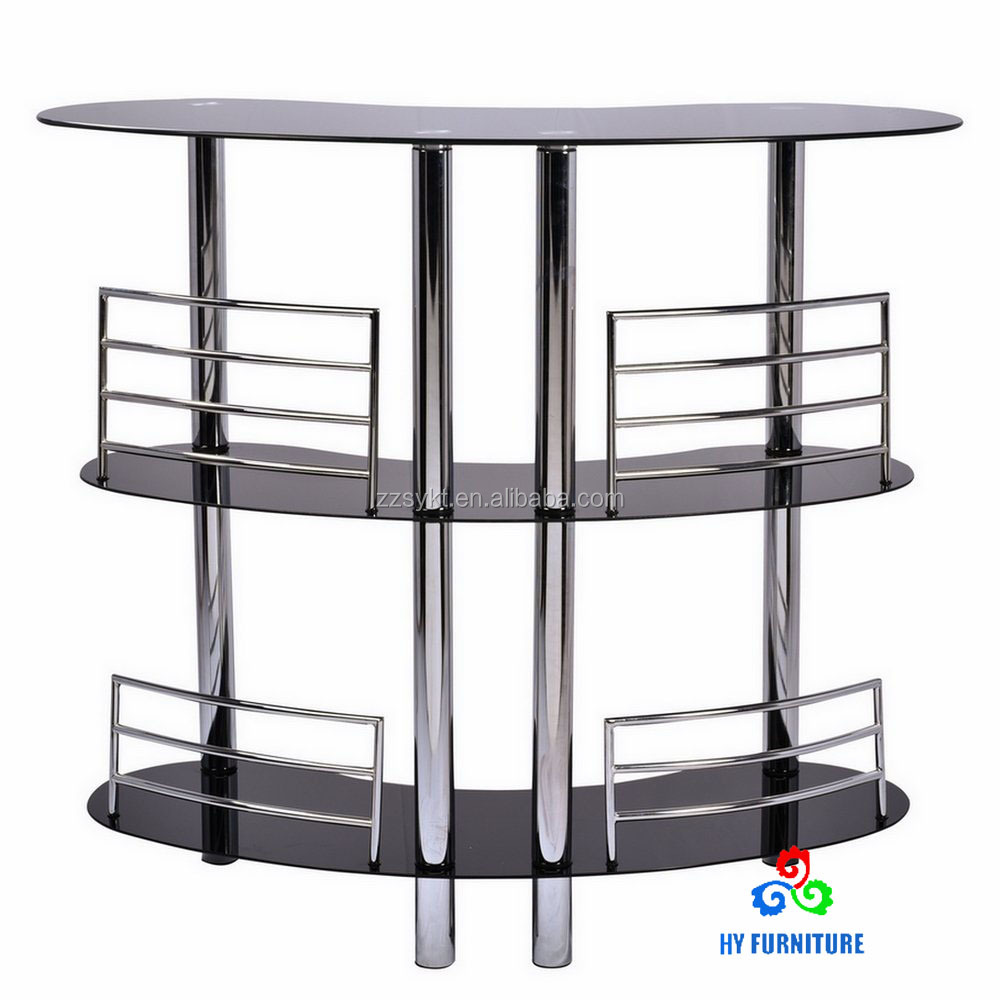 Three layers curved glass counter tables bar counter wholesale