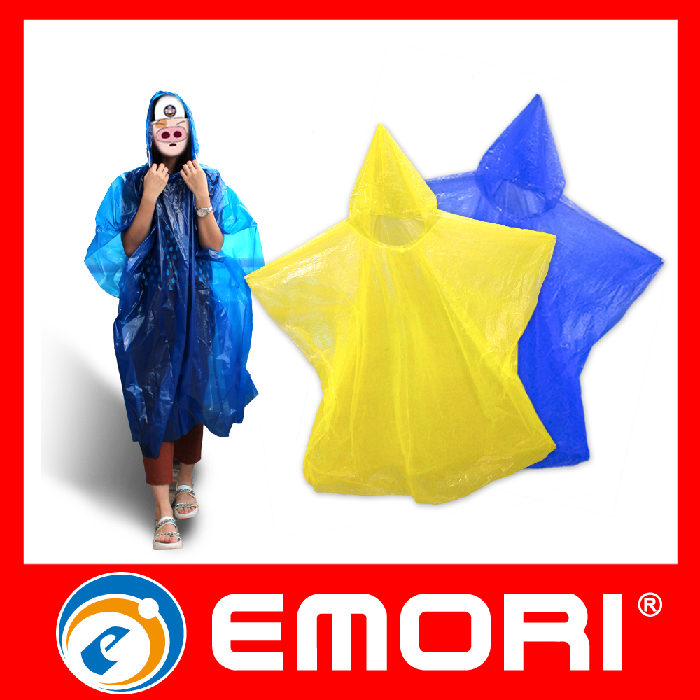 Promotional Item Innovative Disposable Waterproof PE Rain Poncho For Motorcycle