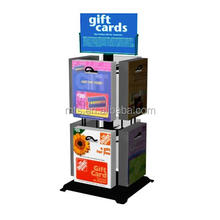 Advertisiment pop up Countertop spinner gift card display rack