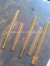 brass plated long hinge/ brass piano hinge