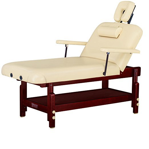 Factory direct sales 31' Spamaster Series LX Stationary Massage Table with MEMORY FOAM Package, Cream