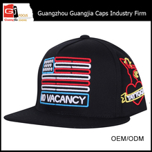 China Guangjia Cap Factory Wholesale Customize Flat Bill Snapback Hats funny hats for sale