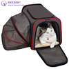 Expandable Cat Carrier Bag Foldable Cat Travel Bag Washable Cat Carrying Bag