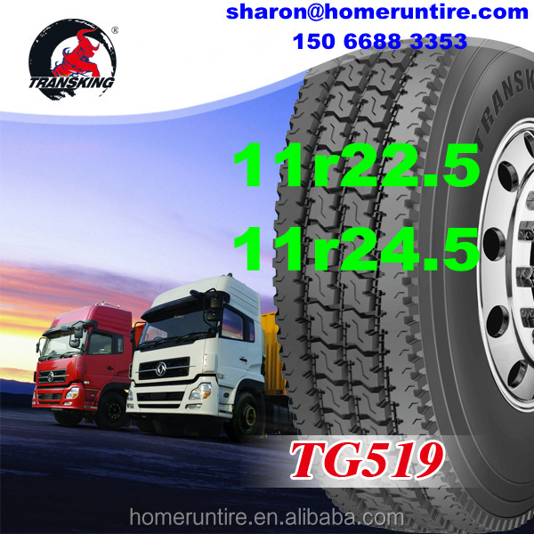 TRANSKING Trailer Tractor 11r24.5 11r22.5 Tire prices for USA,Mexcio,Commercial Radial Truck Tires 295/75r22.5 with SMARTWAY