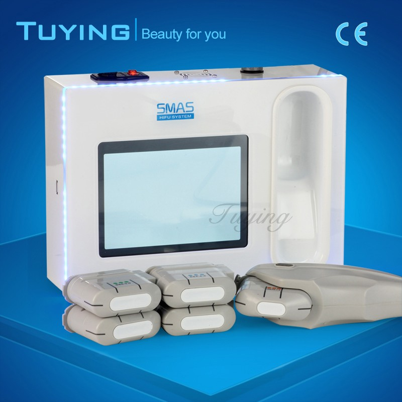 Wholesale portable hifu ultrasound skin tightening machine for salon use with five heads
