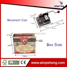 Music Box Movements For Crafts/Hand Crank Paper Music Box