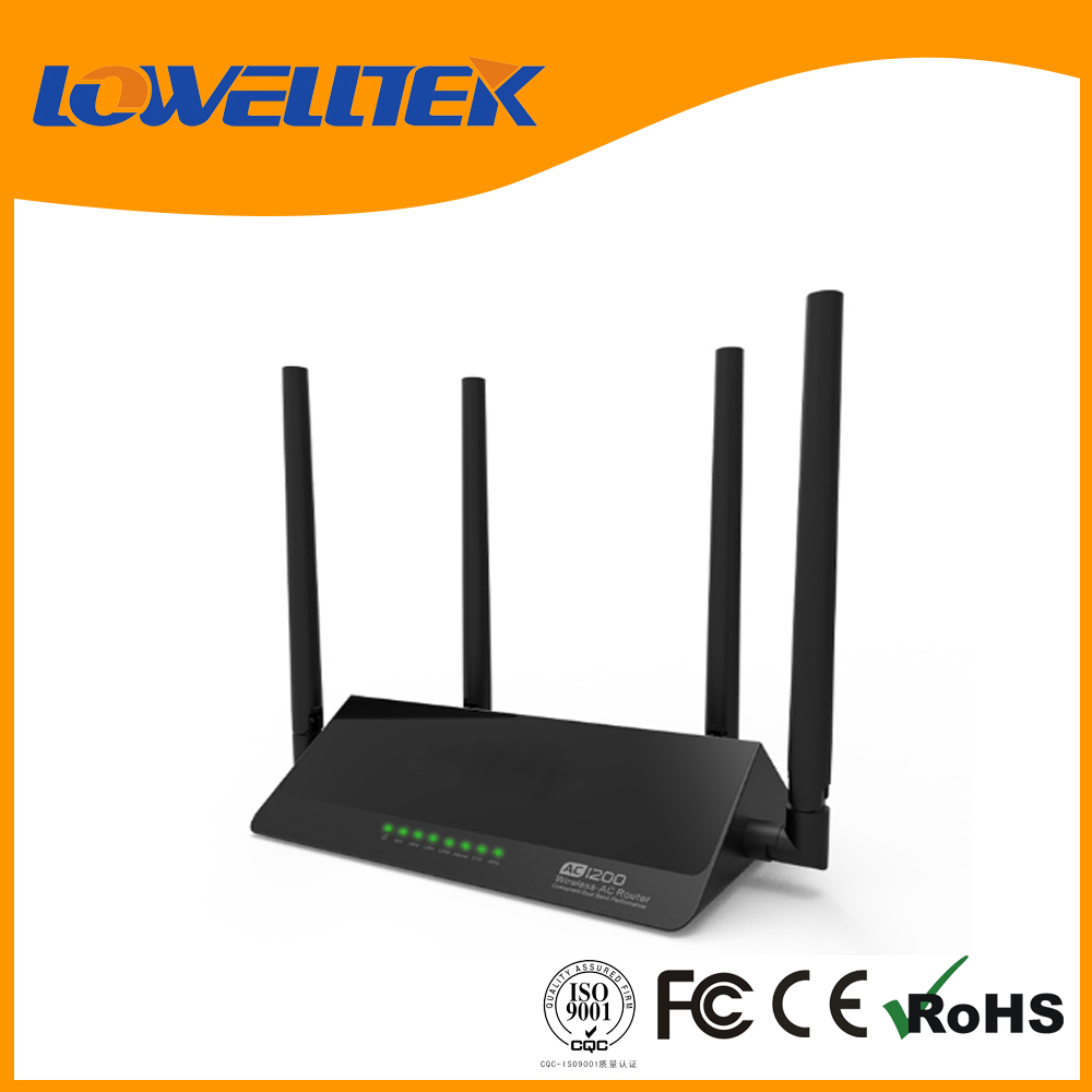 1200MBPS Dual Band 802.11b/g/n/ac dual band wireless wifi router rj45