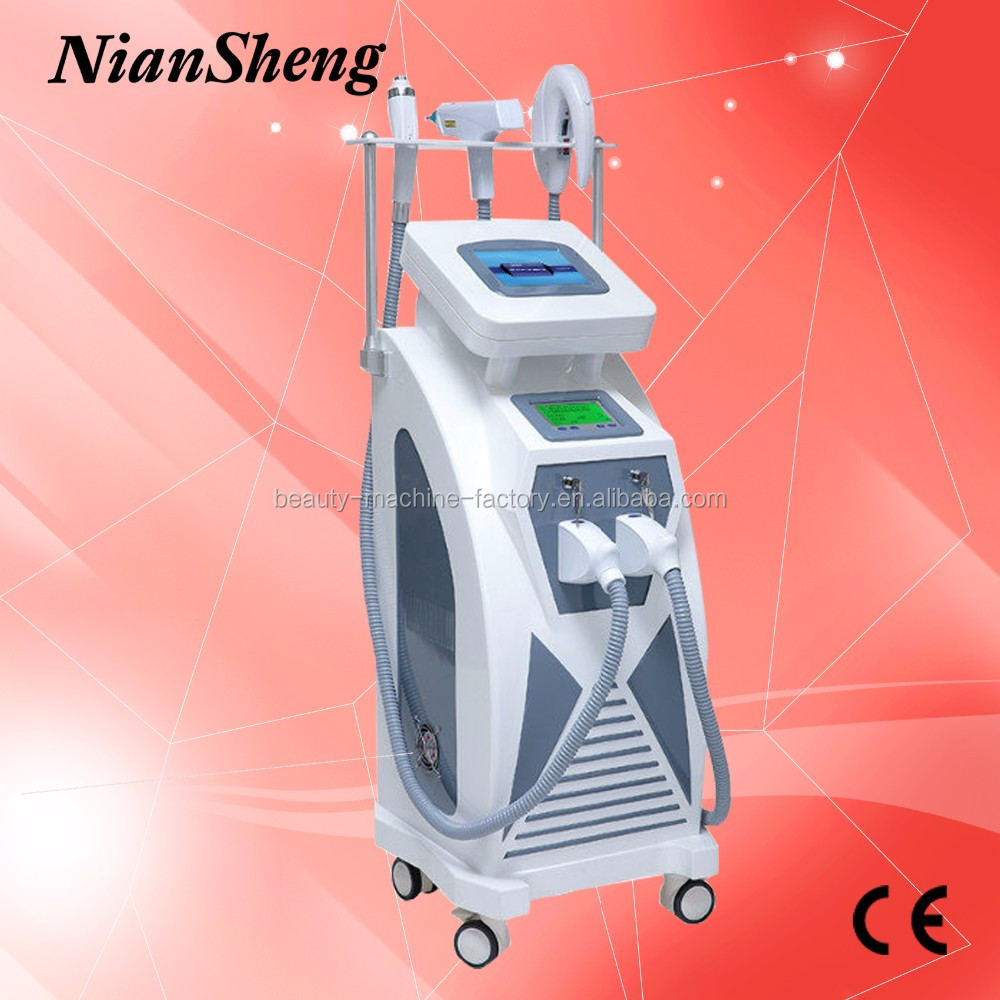 Niansheng Beauty salon use Multifunction IPL hair removal / ND YAG Laser tattoo removal / Ice RF skin care machine