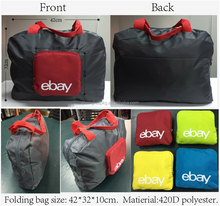 2016 Free sample Eco Foldable bag/ lightweight bag 240D Polyester material