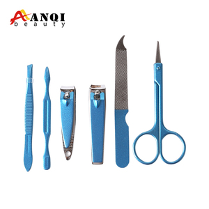 Portable Personal Care 6pcs Manicure Set with fluorescence