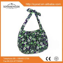 Good price cotton bright quilted fashion portable hemp shopping bags wholesale