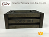 High quality unique hand-made wooden crate wooden storage box