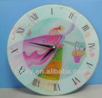 non frame high digital printed glass wall clock