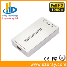 DHL Free Shipping Free Driver 1080P HDMI Video Streaming Capture Card HD Game Video Audio Grabber HDMI To USB3.0 Video Capture