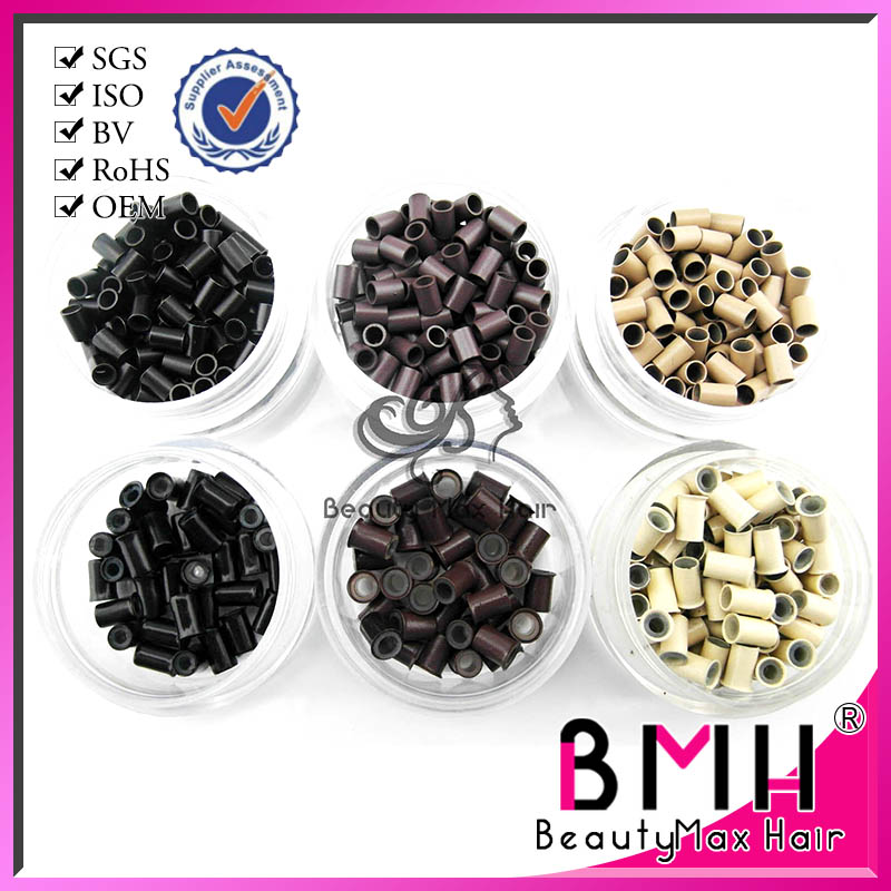 Hot sale hair extension silicon micro ring for I tip hair