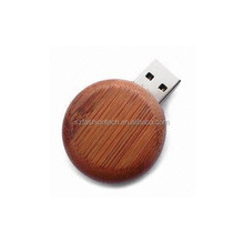 Round Wooden USB pen drive Eco-friendly USB flash disk