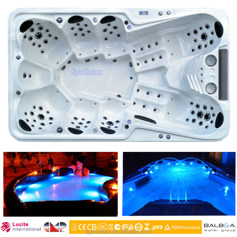 Luxury 8 to 12 person hot tubs A870 home spa personal whirlpool with TV spa cover and step