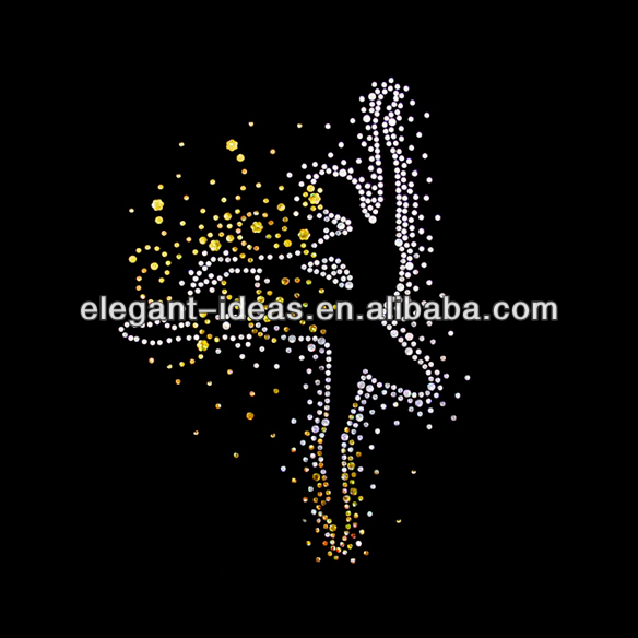 New design custom dance rhinestone iron on transfers