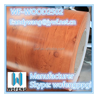 prepainted galvanized steel coil wooden ppgi for roofing sheets