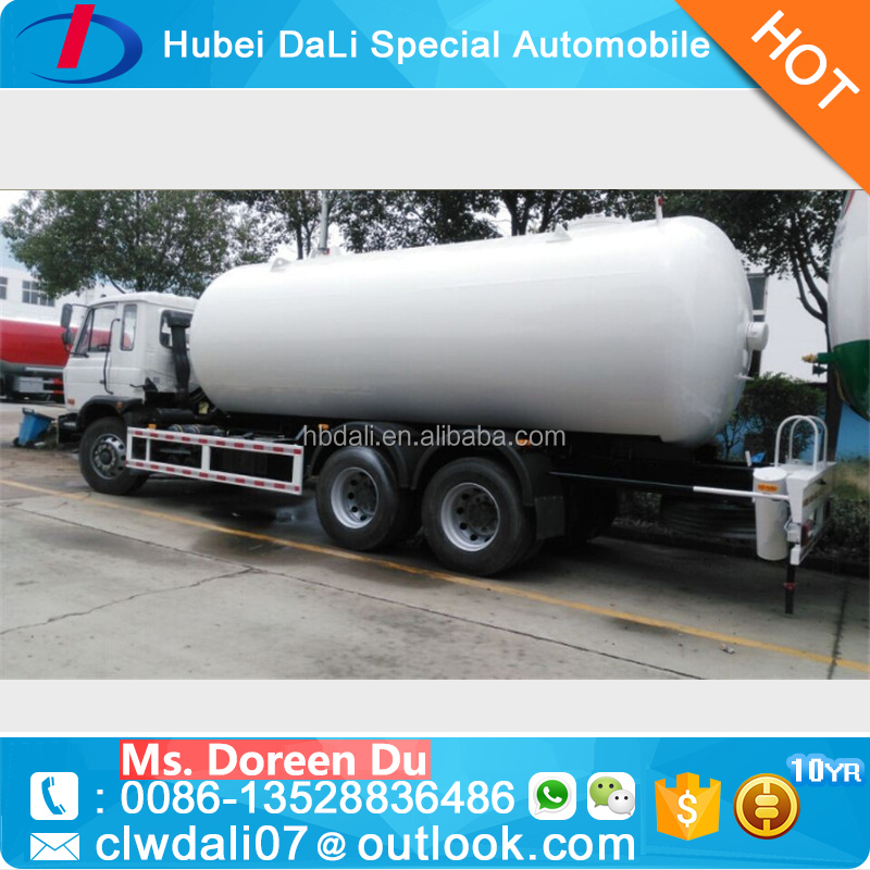 9.87 Tons three axles Liquefied Natural Gas Tanker Truck