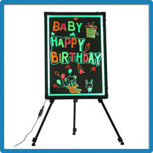 Factory Price ZD Advertising Sign 90 Flashing Modes Dry Erase Board Tempered Glass/Acrylic Panel LED Light Board
