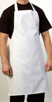 White Butcher Apron made with POLYCOTTON