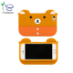 Factory supply lovely animal silicone cell phone case with chain