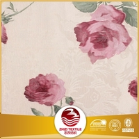 floral pattern print fabric curtain Shaoxing supplier