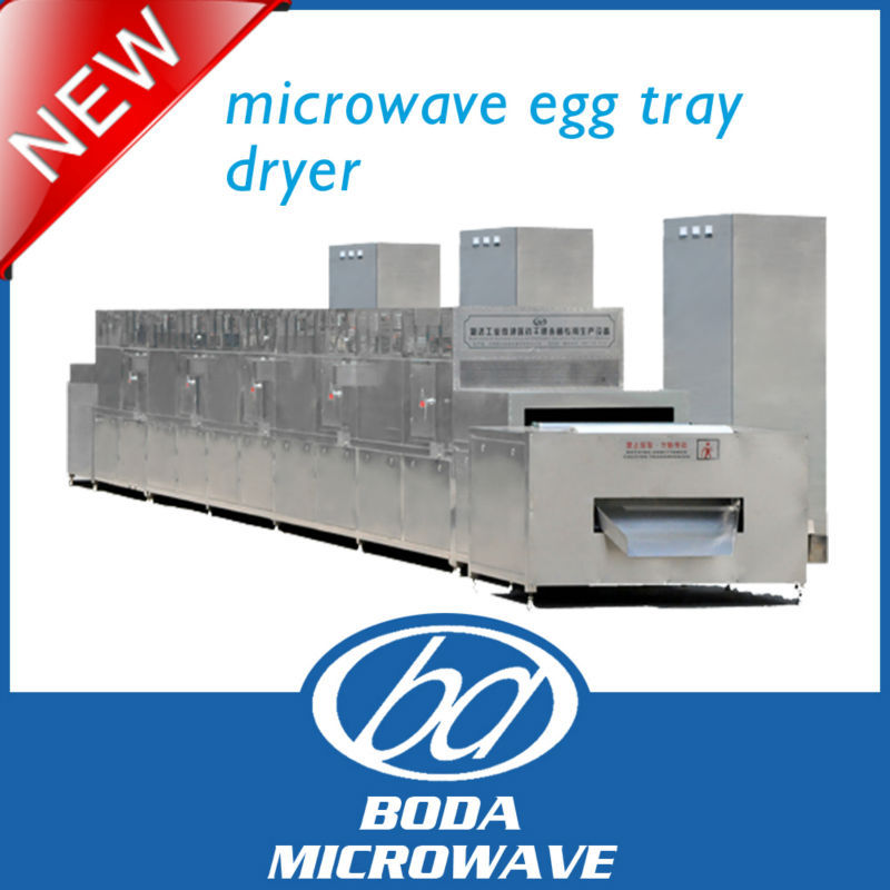 continuous microwave egg tray dryer