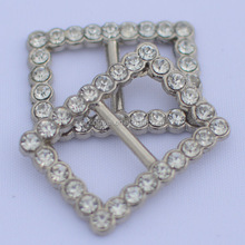 fashion rhinestone decorative bag buckles