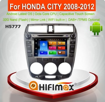 Hifimax Android 8.0 Car DVD Player For Honda City (2008-2012 ) Car Audio GPS Navigation System WITH OCTA CORE 4G RAM Mirror Link