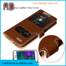 Genuine Leather Case for Samsung Galaxy S8 Card Holder Stand Flip Mobile Phone Cover