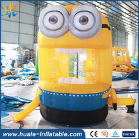 new design minion inflatable money booth for sale