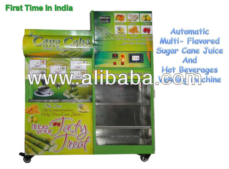 sugar cane juice machine with chiller & flavors