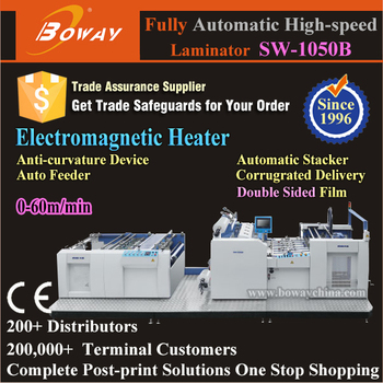 60m/min High speed 90s heat up Fully Automatic Double sided Film laminator