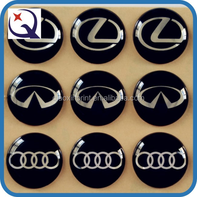 Custom Different Brand Car logo Printing Epoxy Label Manufacturer