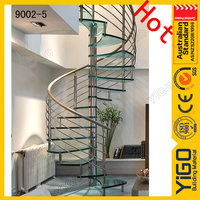 pvc handrail spiral stairs/indoor iron spiral stairs