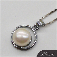 Antique freshwater pearl mounting pendant bijoux wholesale