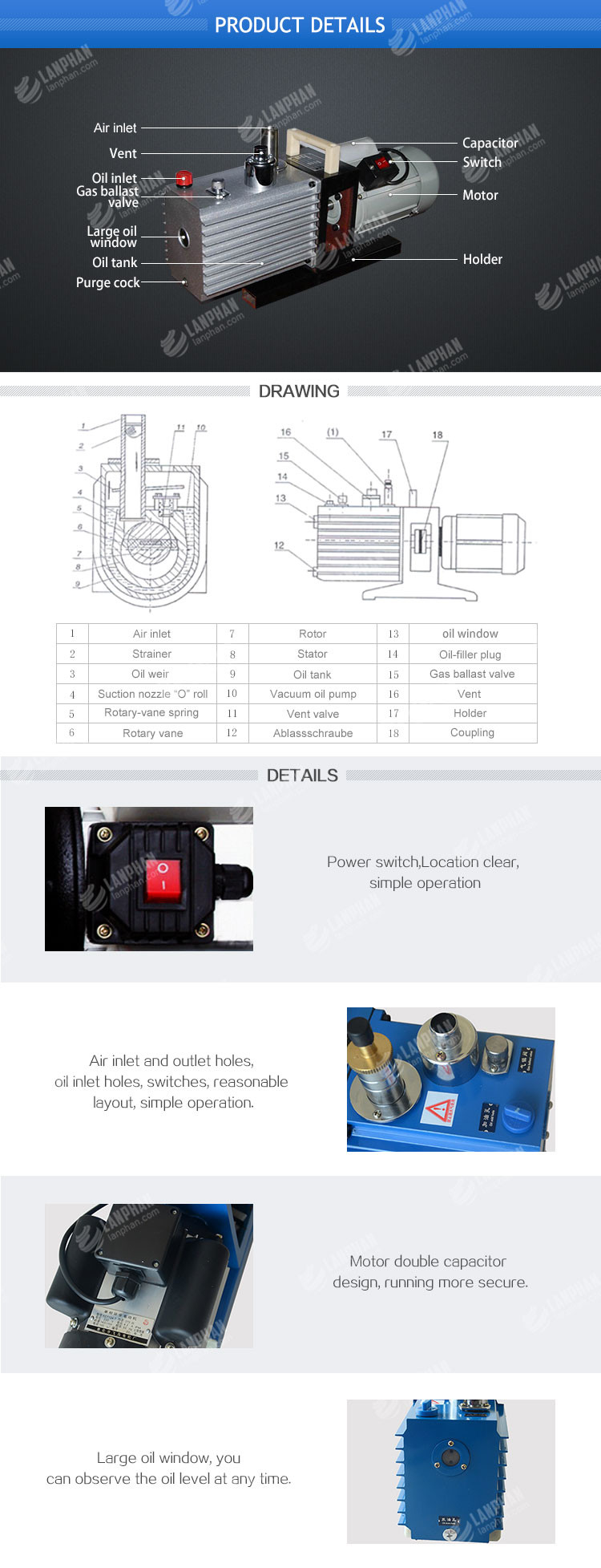 China Hot Sale Multi-purpose Mini Vane Rotary Vacuum Pump