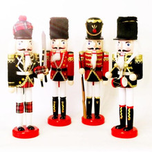 QS brand wholesale fashion kids toys wooden crafts christmas decoration life size nutcracker