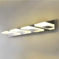 modern novelty crystal bathroom mirror with led light