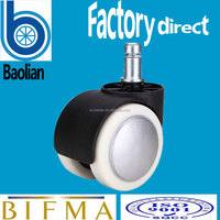 BIFMA test passed plastic PU anti-corroson furniture caster wheel